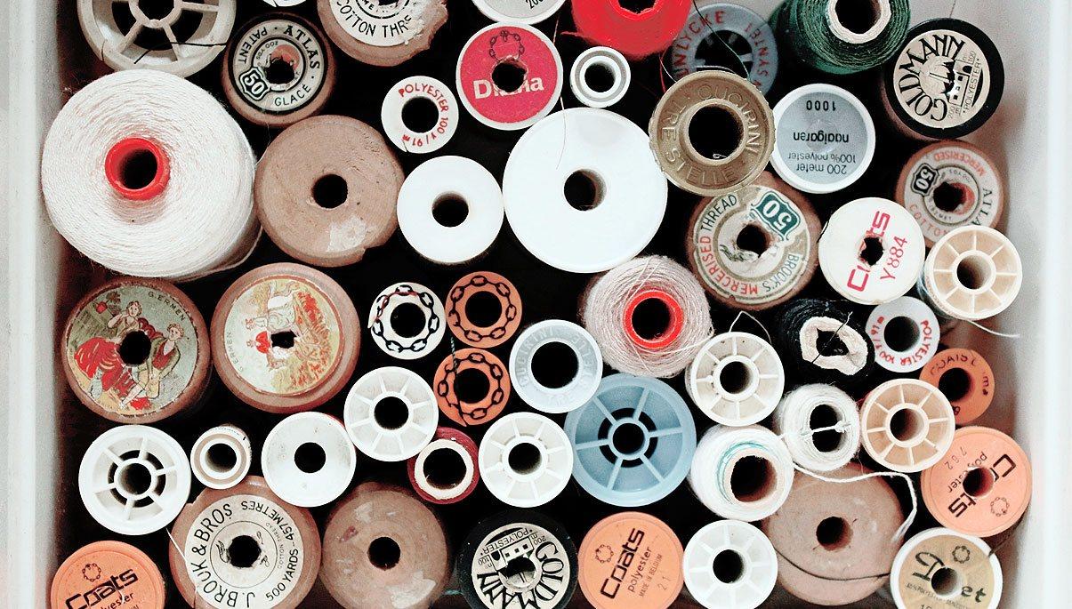 tipos hilos de coser